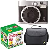 Fujifilm Instax Mini 90 Neo Classic Instant Film Camera With Fujifilm Instax Mini Instant Film, 10 Sheets x 5 packs + Case Deluxe Bundle