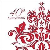 Ruby Anniversary Luncheon Napkin 40th Anniversary (36)