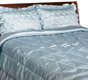 luxury satin queen comforter 4 piece bedding. Black Bedroom Furniture Sets. Home Design Ideas