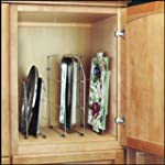 "18"" High Tray Divider Organizer, Chrome"