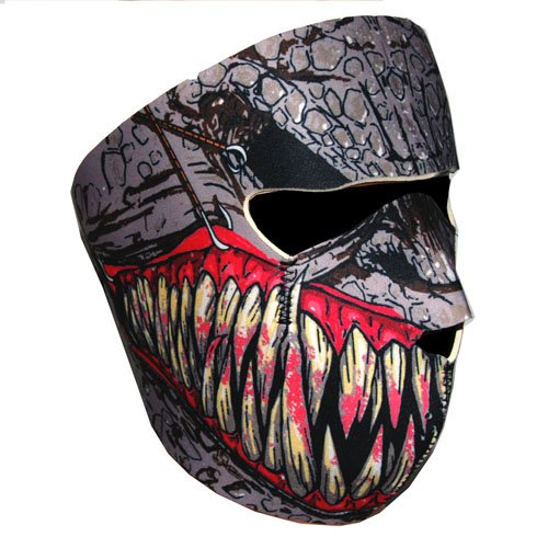 New Half Face Motorcycle Snowmobile Snowboard Ski Balaclava Face Mask Fang Black