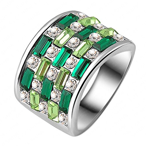 RI06031C1-9 Alloy Austrian Crystal 18K Ring (Bjj Timer compare prices)