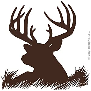Amazon.com - Deer Head Silhouette Buck Hunting Vinyl Wall