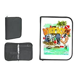 New Scuba Diving 3 Ring Zippered Log Book Binder with FREE Generic Log Insert ($12.95 Value) - Diver Down (Deep Down)