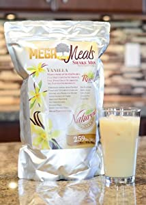 MegaOne Vanilla Meal Replacement Shake Mix - All Natural Vegan Protein - GMO Free - Gluten Free - For Diet / Weight Loss, Emergency Food Storage (1 Pouch)