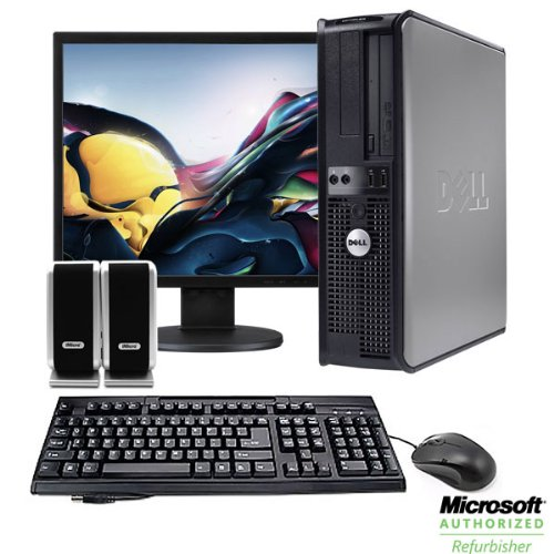 """Dell Optiplex 755 Desktop Complete Computer Package-4Gb Memory Windows 7 Professional- 17"""" Lcd Monitor, Keyboard, Mouse, And Speakers"""