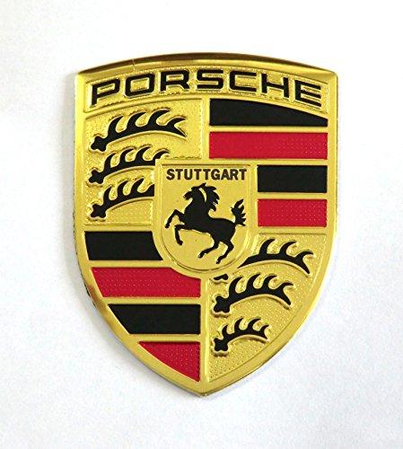 PORSCHE ポルシェ メタルプレート エンブレムステッカー PS036