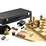 3 in 1 Games Set for Chess, Backgammon and Draughts.by Gibsons