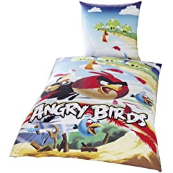 Global Labels G 67 600 AB1 100 Angry Birds - Cliffhanger Lenzuola double-face (copripiumino 135x200 cm e 1 federa 80x80 cm)