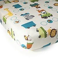 Bedtime Originals Crib Fitted Sheet, Choo Choo by Bedtime Originals