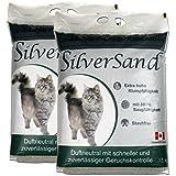 Silversand klumpendes Katzenstreu duftneutral 2 x 15kg