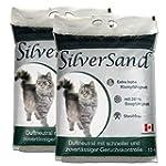 Silversand klumpendes Katzenstreu duf...