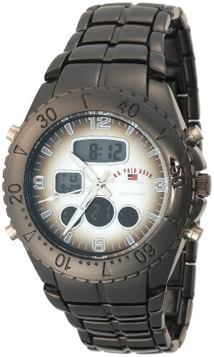 U.S. Polo Assn. Men's US8139 Gun Metal Analog-Digital