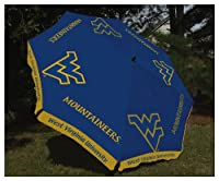 West Virginia Mountaineer 9ft Market Umbrella by Team Sports America