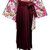 袴 無地 はかま 女性用 4サイズ5色/L(95cm) エンジ