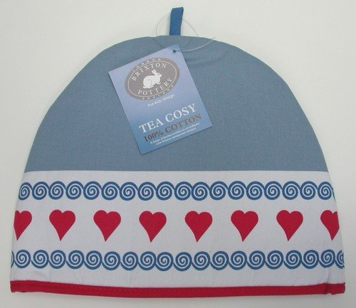 Brixton Pottery Hearts Tea Cosy By Ecp Design