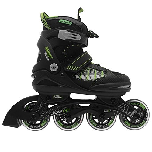 no-fear-kids-children-boys-edge-junior-inline-skates-roller-blades-4-wheel-black-green-uk-1-35