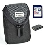 Set Bag Vantage Intercept S Camera bag black + Replacement Accu BP-70A + 8GB SD card for Samsung MV800 ST30 ST65 ST66 ST72 ST77 ST88 ST90 ST93 ST95