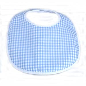 Infantissima Infant Bib, Gingham Light Blue