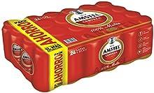 Amstel 100% Malta Cerveza - Paquete de 24 x 375 ml - Total: 9000 ml