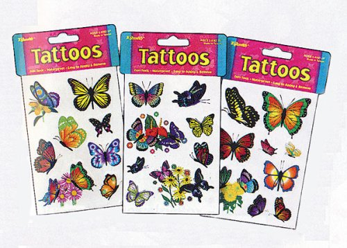 These temporary butterfly tattoos are for the person who wants one,