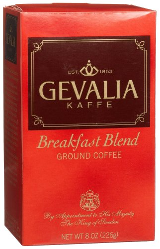 Gevalia Breakfast Blend Ground Coffee, 8-Ounce Packages (Pack of 3)
