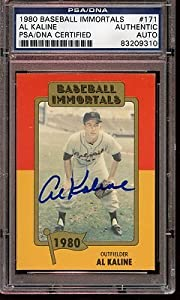 Al Kaline Signed Ball - 1980 Immortals Card #171 PSA DNA Authentic - MLB Baseball Cards