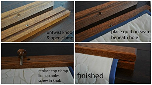 Wooden Quilt Hanger Clamp Amish Solid Wood Wall Mounted