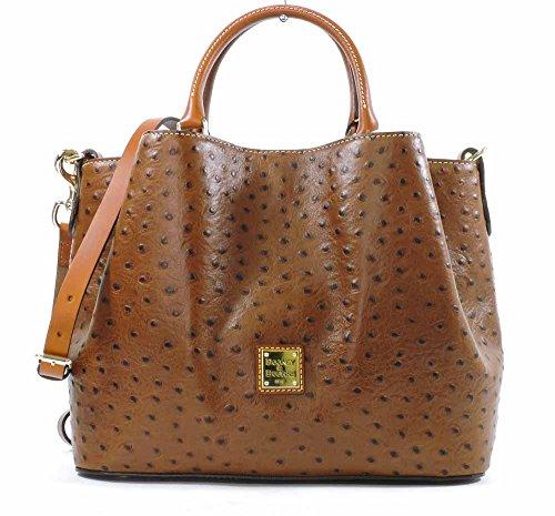 dooney-bourke-ostrich-emb-leather-barlow-bag-cognac