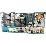 Kids Pretend Play Gourmet Kitchen Appliance 3 Piece Set Blender Coffee Maker and Mixer