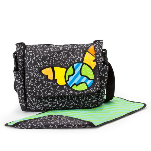 "Gund Baby Britto Bebe From Enesco Diaper Messenger Bag, 10.5"" (Discontinued by Manufacturer)"