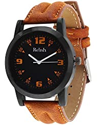 Relish Casual Tan Leather Strap Men's Watch RELISH-532