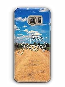 YuBingo Love Yourself Designer Mobile Case Back Cover for Samsung Galaxy S6 Edge