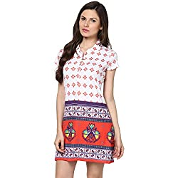 Fritzberg Printed White Women Top