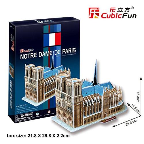 """CubicFun 3D Puzzle C-Series """"Notre Dame de Paris"""" - 1"""