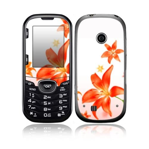 Flying Flowers Design Decorative Skin Cover Decal Sticker for LG Cosmos 2 VN251 Cell Phone