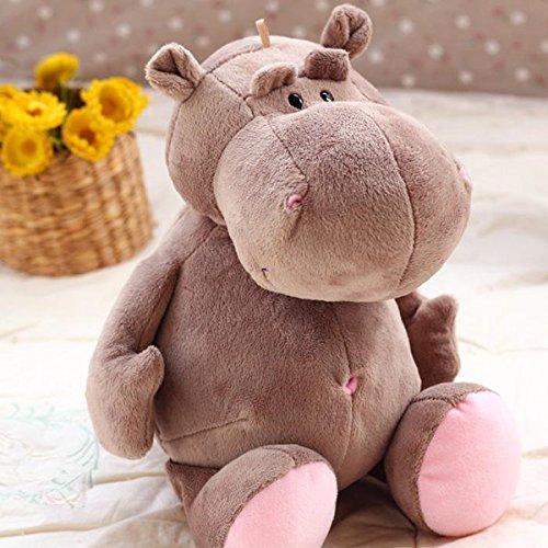 Cheerhuzz New Giant Big Jumbo Animal Soft Lovely Hippo Stuffed Plush Toy Height 70cm