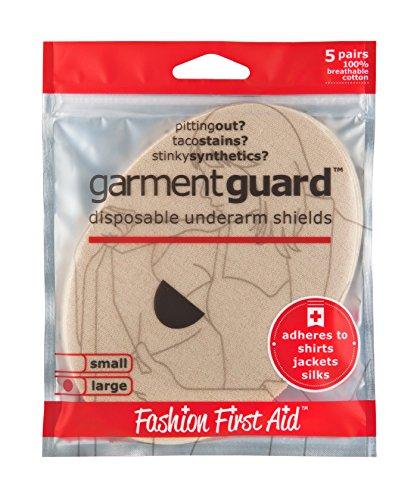 Garment Guard LARGE: Disposable Underarm Shields, 10 Beige Armpit Pads (Black Garment Shields compare prices)