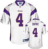 Reebok Minnesota Vikings Brett Favre Premier White Jersey