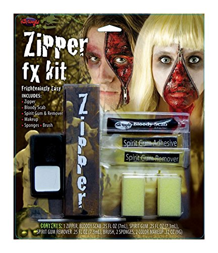 [Bristol Novelties Adult Fancy Fake Artificial Scary Wound Zipper Fx Kit 9Gm Multi] (Zipper Fx Kit)