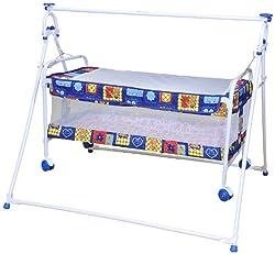 Mothertouch Baby Cradle Cum Cot (Blue)