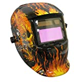 Neiko Auto Darkening MIG/TIG Solar Powered Welding Helmet - Flame Skull Design