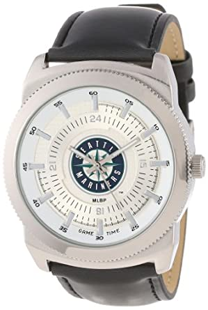 Game Time Mens MLB-VIN-SEA Vintage MLB Series Seattle Mariners 3-Hand Analog Watch by Game Time