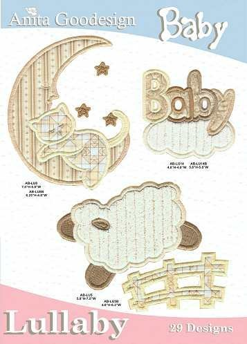 Anita Goodesign Embroidery Design Cd Baby Lullaby back-403907