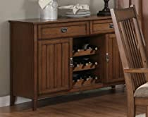 Hot Sale Coaster Burton Server with 2 Drawers in Warm Medium Oak Finish
