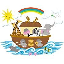 Noah's Ark Paint by Number Wall Mural