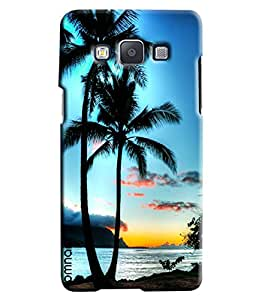 Omnam Sunset Near The Beach With Coconut Trees Printed Designer Back Cover Case For Samsung Galaxy A7