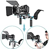 Neewer® DSLR Movie Video Making Rig Set System Kit for Camcorder or DSLR Camera Such as Canon Nikon Sony Pentax Fujifilm Panasonic,include:(1)Shoulder Mount+(1)15mm Rail Rod System+(1)Matte box
