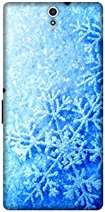 The Racoon Grip printed designer hard back mobile phone case cover for Sony Xperia C5 Ultra. (Frozen Fev)