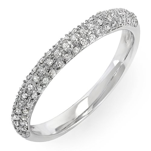 0.25 Carat (ctw) 14k White Gold Round Diamond